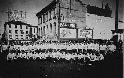 members of the Union Fire Company pose during a Labor Day display in the 1940's. Photo courtesy William Rehr, III. Scanned by Anthony Miccicke.