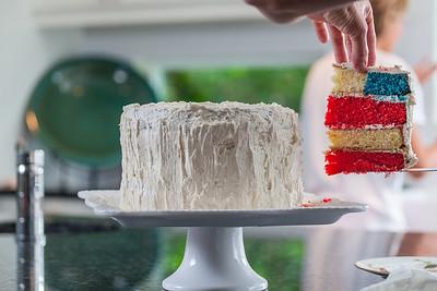Flag Cake - July 2014-71