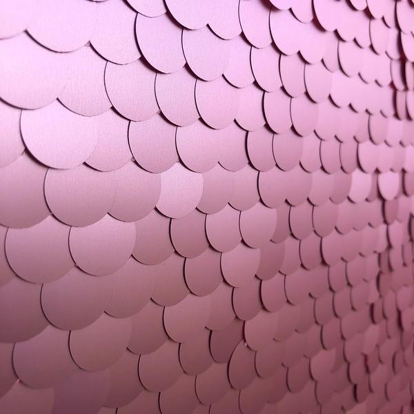 Rose Pink Metallic Sequins Close Up
