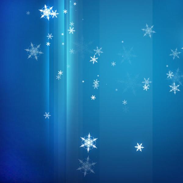 snow on med blue stripes
