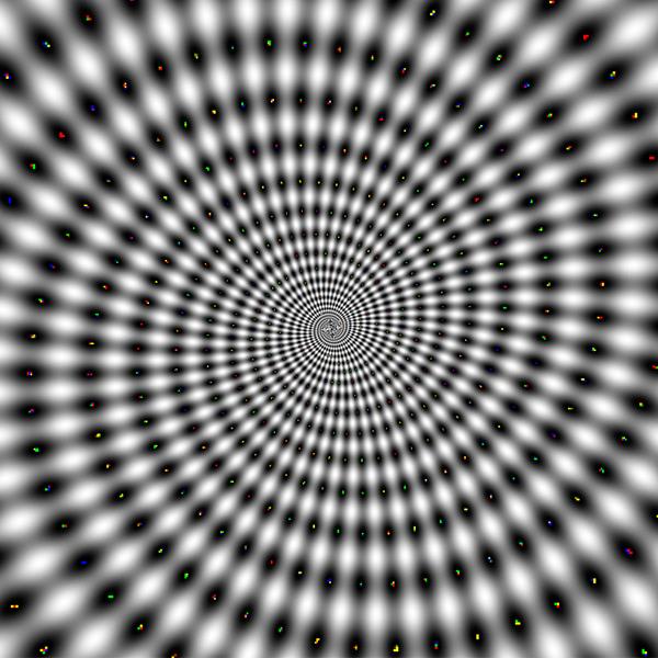 Hypnotic spinning spiral