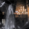 Halloween ghost woman