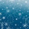 snowflakes on medium blue
