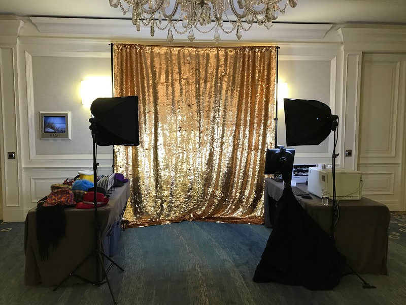 Gold Sequins Setup Example 10x10 Straight
