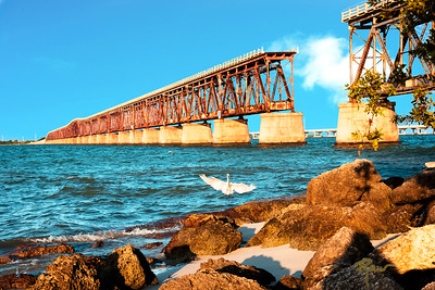 Bahia Honda Rail Bridge at Sunrise