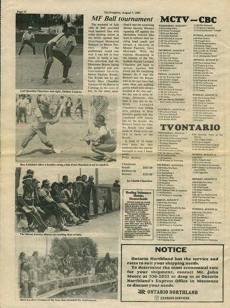 Freighter newspaper 1985 August 7