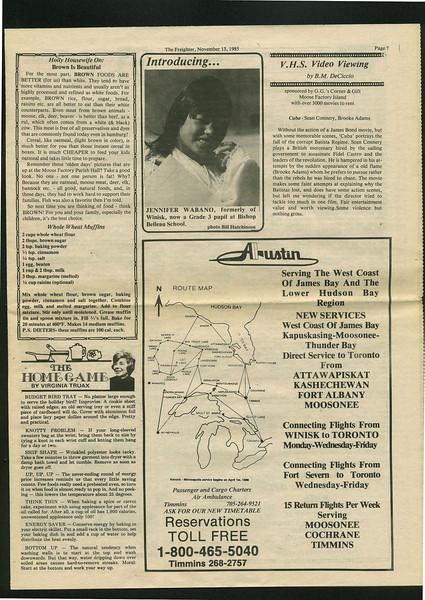 Freighter 1985 November 13. Jennifer Wabano.