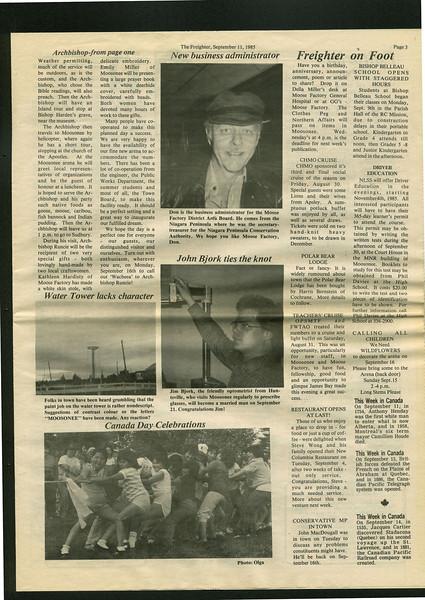 Freighter 1985 September 11th. Jim Bjork.