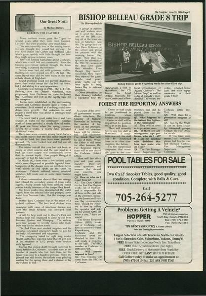 Freighter 1995 June 19. Bishop Belleau Grade 8 trip.