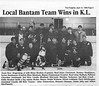 the Freighter 1996 April10th. Local bantam team wins in Kirkland Lake.