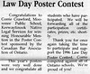 the Freighter 1996 April10th. Law Day poster contest, Natumakawin committee thanks many, Northern College students to compete