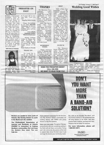 The Freighter newspaper 1996 January 17th. Mulutin Miljatovich retirement.