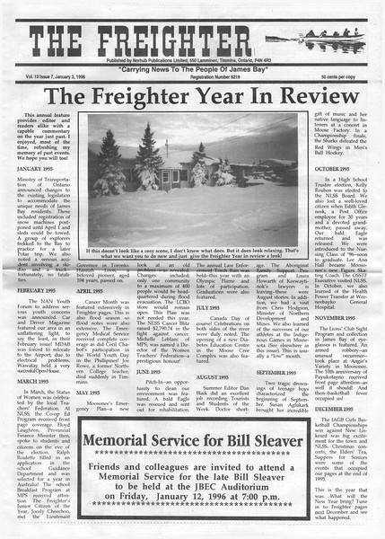 The Freighter 1996 January 3rd. Year in review