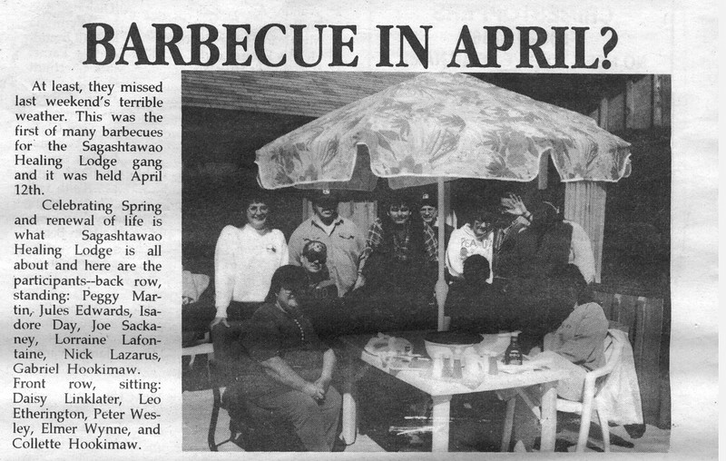 the Freighter 1996 May 1. Sagashtawao April BBQ.