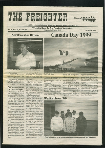 Freighter 1999 June 23. Walkathon 1999. Dr. Michael Green. John Rutledge.