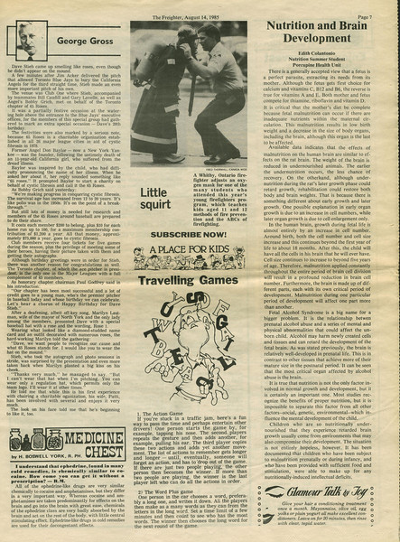 Freighter newspaper 1985 August 14th