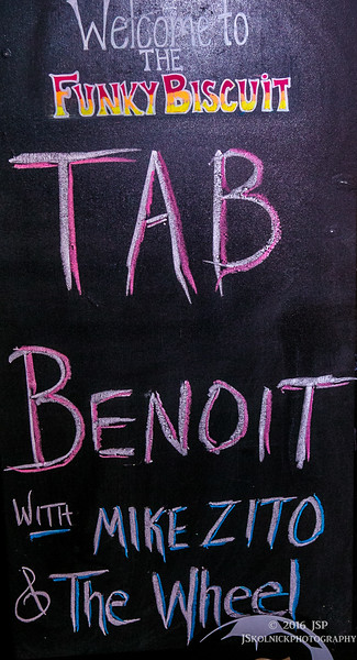 1/16/16 Tab Benoit and friends at the Biscuit