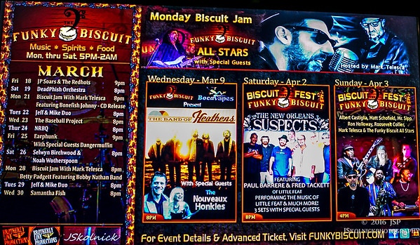 3/9/16 Band Of Heathens at the Funky Biscuit