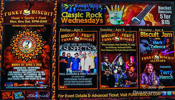 4/1 4/2 New Orleans Suspects at Biscuit Fest with Ron Holloway, Paul Barrere, Fred Hackett and Al Poliak