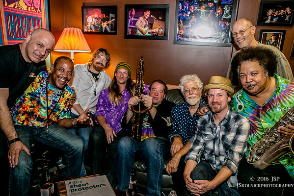4/2/16 New Orleans Suspects with Paul Barrere and Fred Tackett Ron Holloway and Al Poliak  fun in Green Room