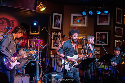 Brothers and Sisters Annual Holiday Jam at the Funky Biscuit Featuring Scott Sharrard, bandleader, Tash Neal guitar, vocals, Marc Quinones, drums. Peter Levin, Keys, Bobby Allende, percussion, Brett Bass, bass, Richie Schmidt, guitars, vocals, Anna Ayers, vocals