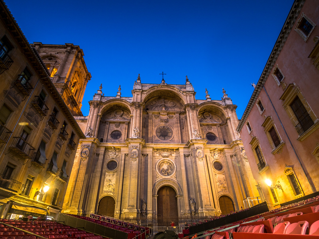 Granada Cathedral by Night, Spain