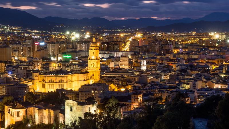 Night Lights, Málaga, Spain