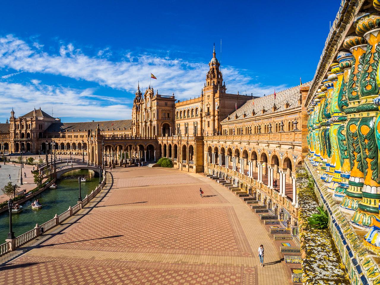 From the High Balcony of the Plaza de España, Seville, Spain