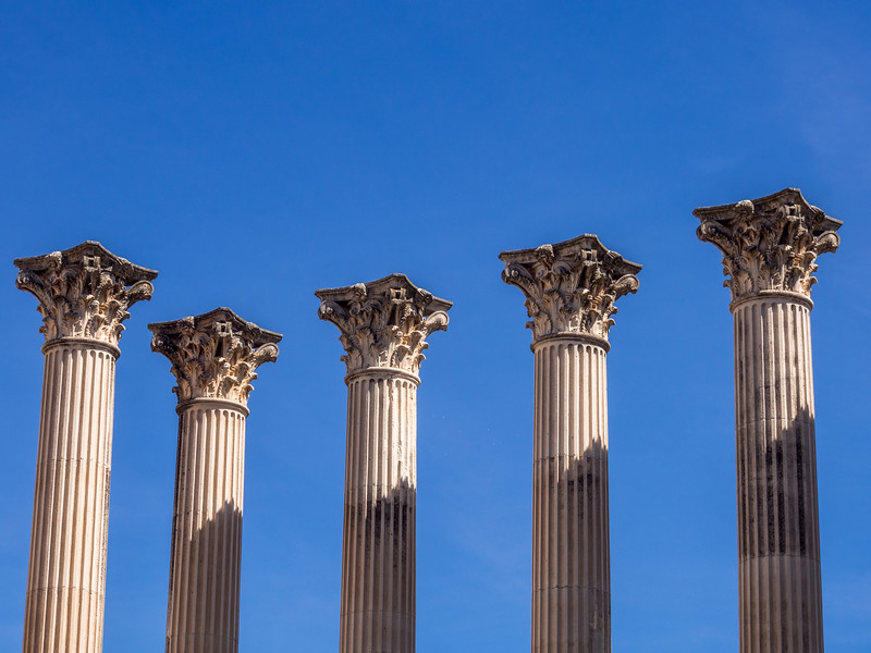 Roman Pillars of the Community, Córdoba, Spain