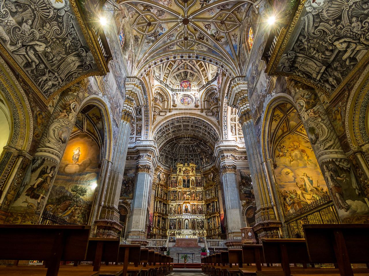 Inside the Monastery Church of San Jeronímo, Granada, Spain