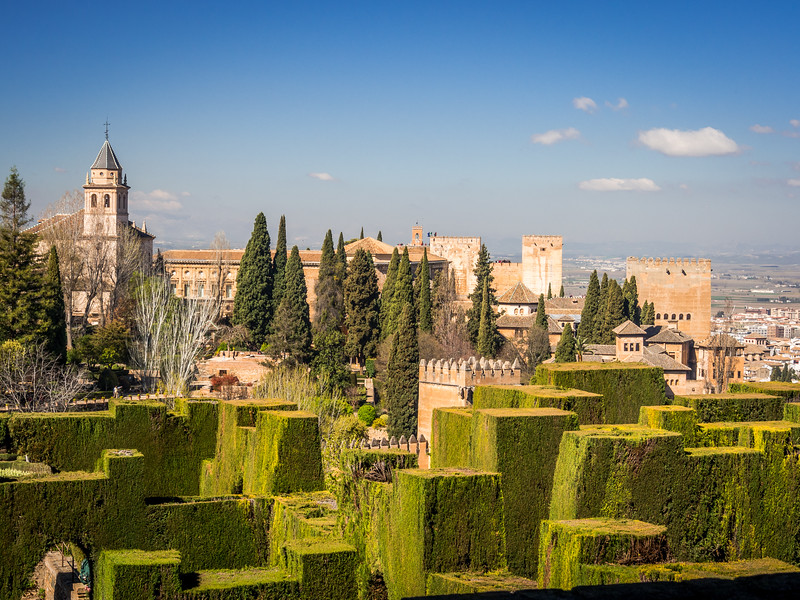 Alhambra from the Generalife, Granada, Spain