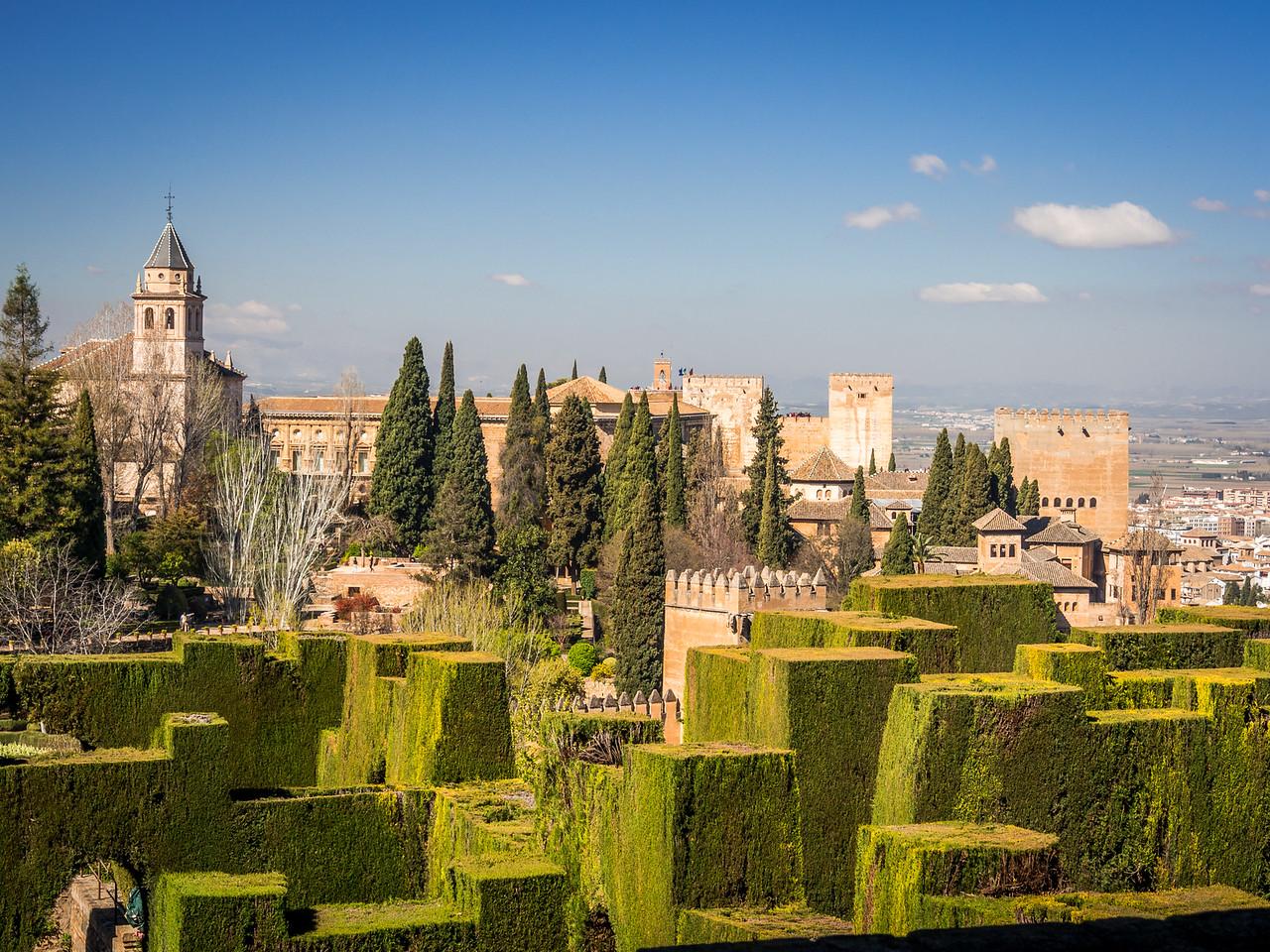 Alhambra from the Generalife, Granada, Spain
