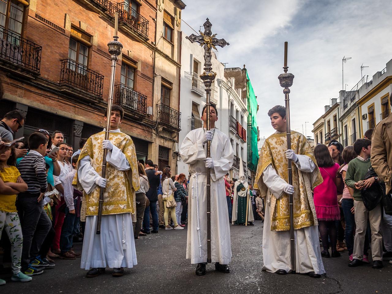 Staff Bearers, Semana Santa, Córdoba, Spain