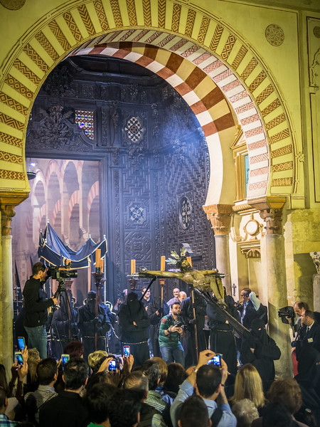 Crucified Christ Leaving the Mezquita, Córdoba
