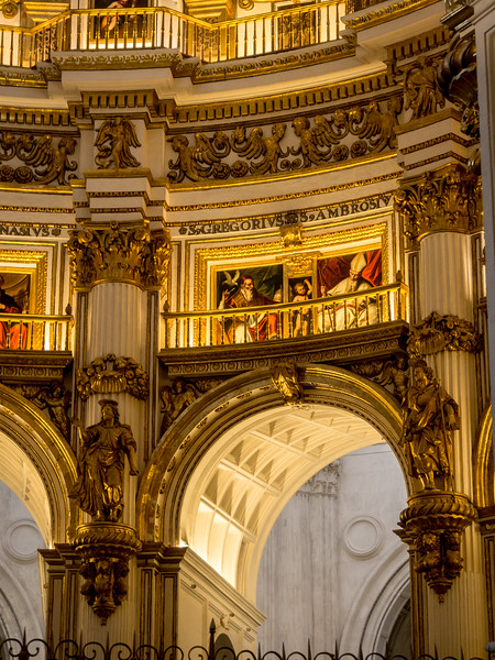 Arches and Artwork of the Granada Cathedral