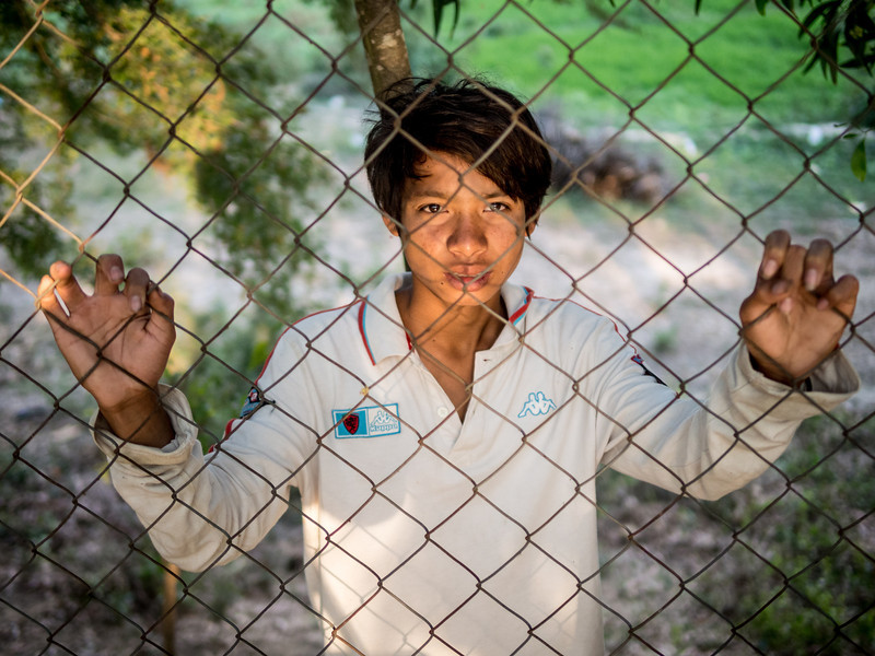Beggar Boy, Killing Fields, Choeung Ek, Cambodia