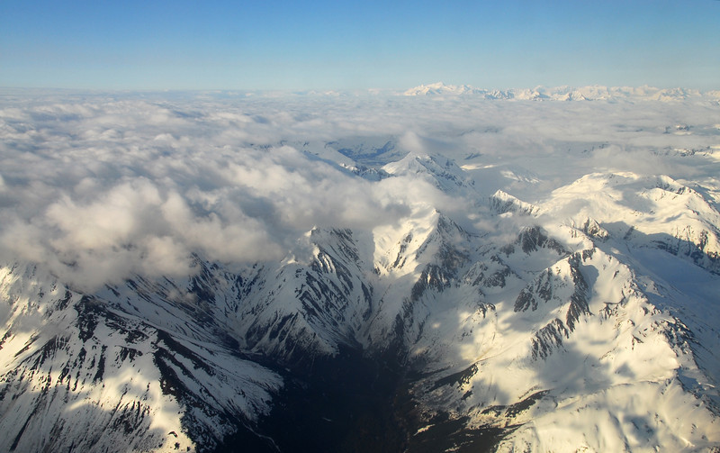 Even looking down on Alaska it still looks big... but beautiful!
