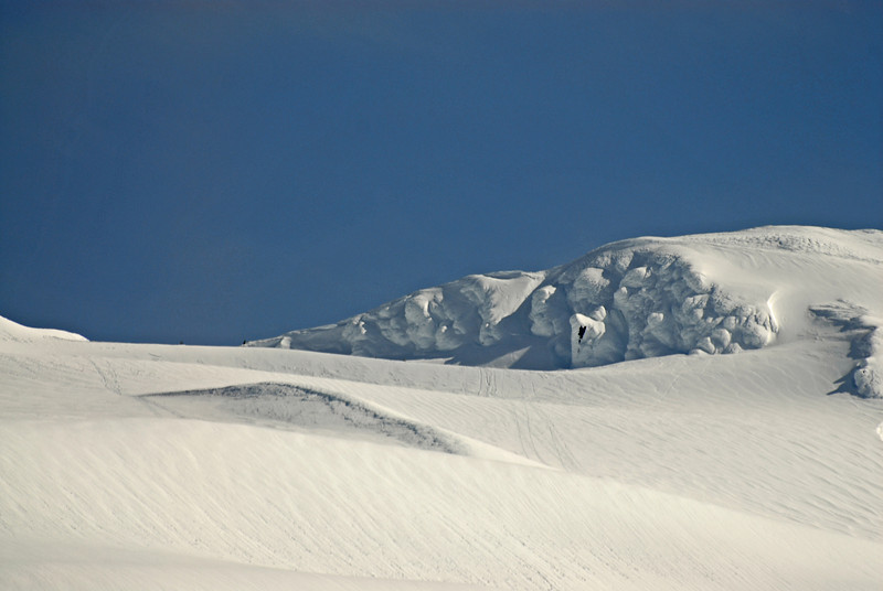 This was a snowcapped mountain and the interesting thing is what the snow has taken the form of. How many faces do you see in the snow? These faces were gone within an hour after this photograph was taken.