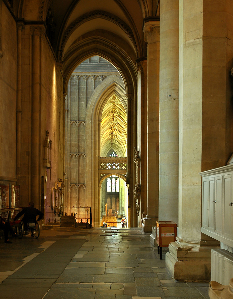 Hallowed halls of Canterbury Cathedral in Canterbury, Kent