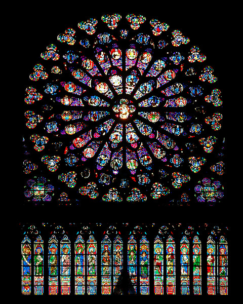 The Rose Window at Notre Dame, Paris, France