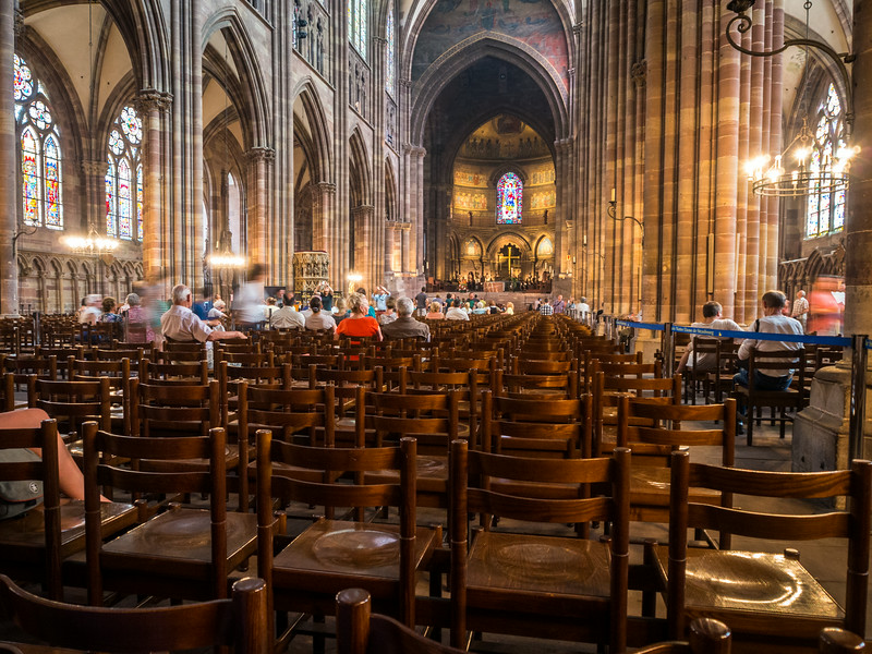 Empty Seats, Strasbourg Cathedral