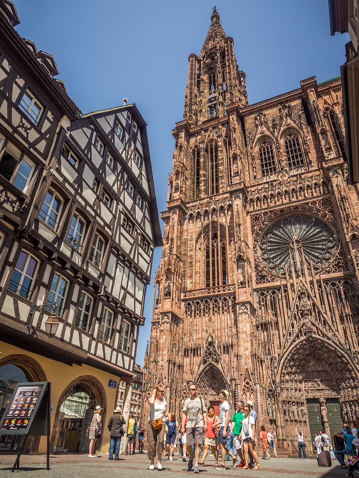 Fachwerk House and Cathedral, Strasbourg
