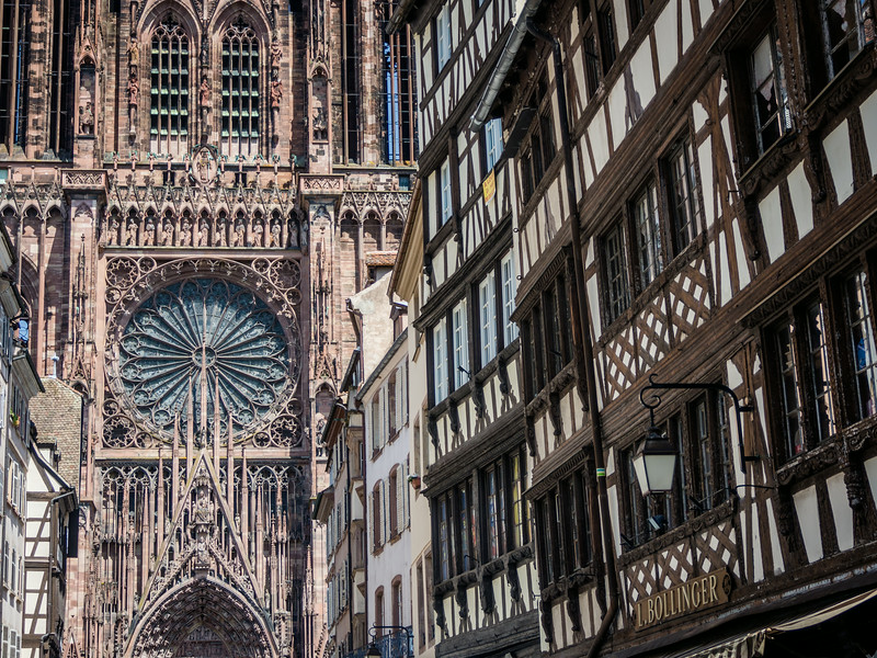 Row Houses and Cathedral, Strasbourg, France