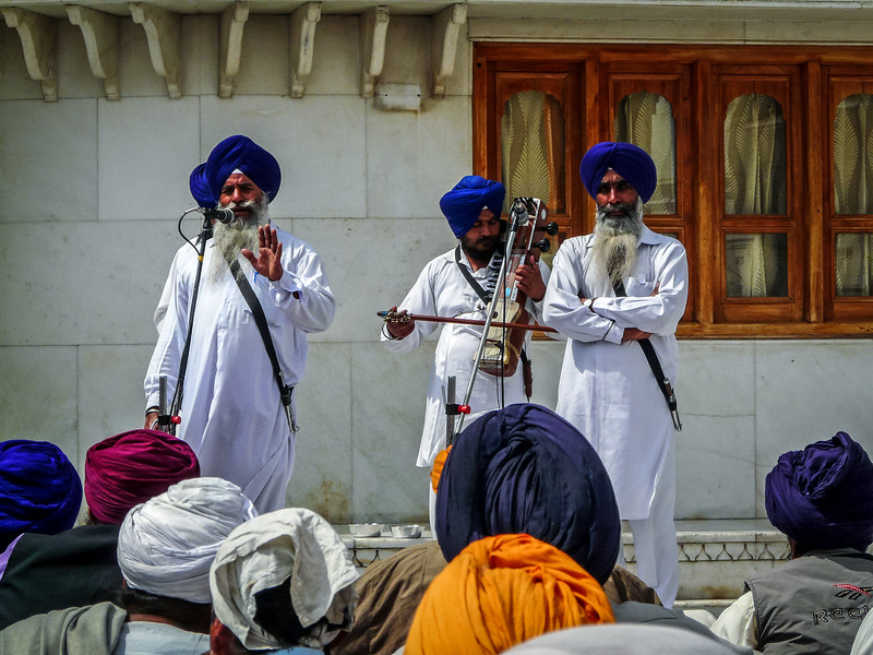 Musicians at the Golden Temple, Amritsar, India