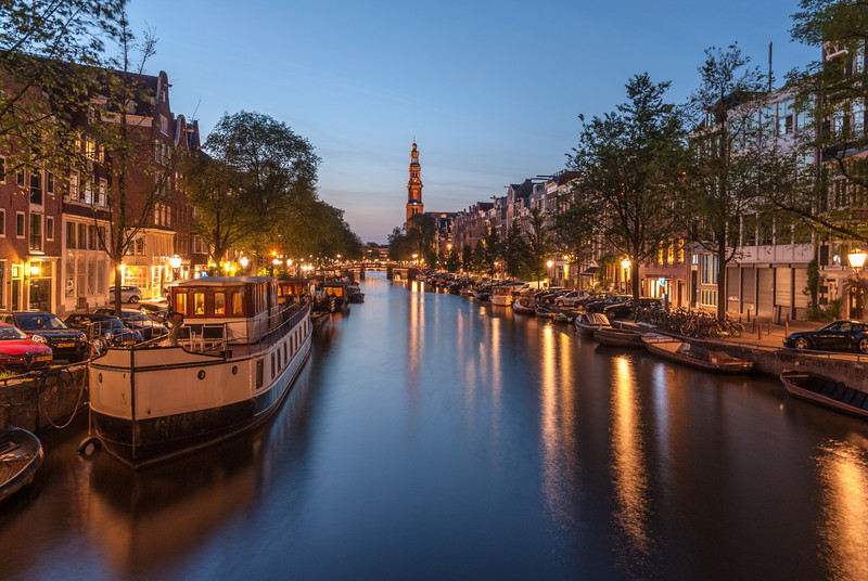 Night on Prinsengracht, Amsterdam