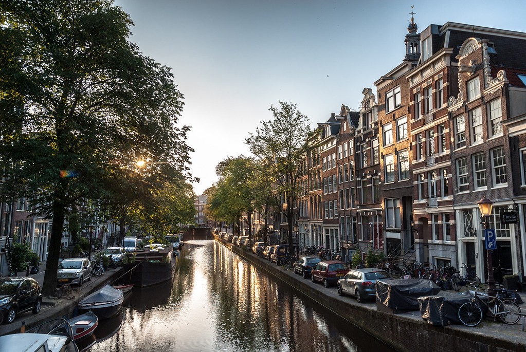 Sunrise on the Canal, Amsterdam