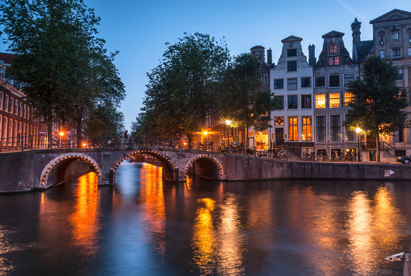 Evening on the Bridge, Amsterdam
