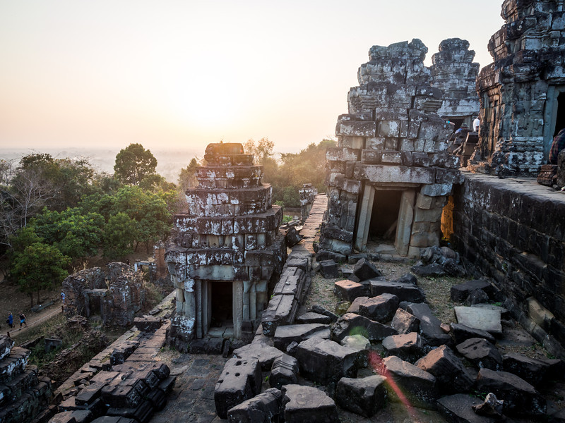 Sunset at Phnom Bakheng, Angkor, Cambodia