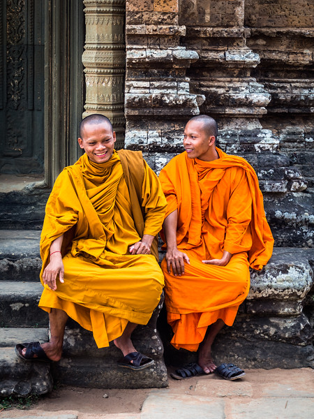 Happy Monks, Pre Rup, Angkor, Cambodia