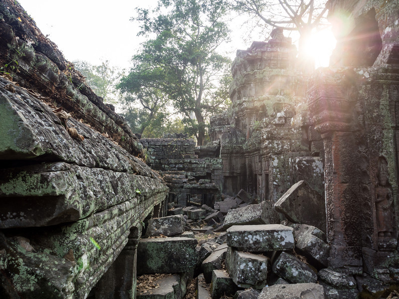 Sunlight through the Ruins, Ta Prohm, Angkor